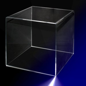 Clear Display Cube.