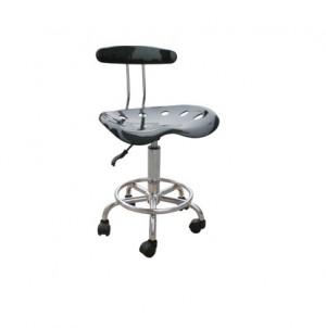 ART DECO  Gas Lift Bar Stool Chair - Black