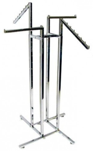 4 way adjustable clothes and show bags rack stand (mix).