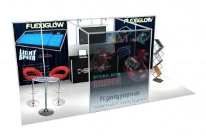 Titanium 6x3 open space stand