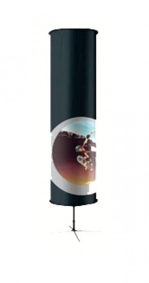 Freestanding Cylindrical Banner