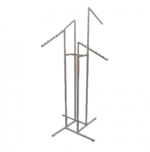 4 way adjustable clothes and show bags rack stand (Angled).