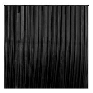 3x3m Black Stage Backdrop Curtain / Drape